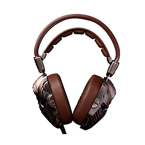 Bass Stereo Gamer Auriculares con cable con micrófono USB 7.1 Surround Sound PS4 Gaming Headset con luz LED para PC, teléfono y portátil