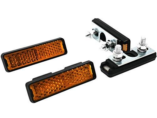 Pedal-Reflektor 4er Set Reflektoren für Pedale Orange mit Muttern und Schrauben für Fahrräder Pedalreflektor Pedalreflektoren