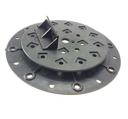 Pied de rangement réglable pour terrasse Pied de nivellement Base pour bois Base en aluminium WPC 134 pièces (1 carton) Hauteur réglable 18-25 mm