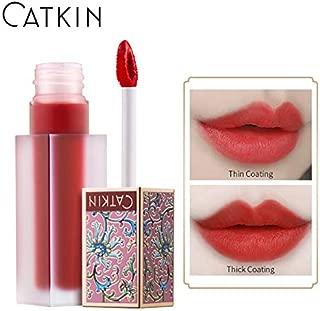 CATKIN Liquid Lipstick,Matte Lip Gloss Velvety Silky Smooth Natural Waterproof Long Lasting Non-Stick Cup Moisturizer Makeup-C02