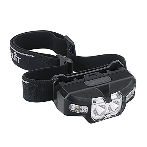 M-TOP Linterna Frontal con Sensor De Movimiento,Luz Frontal Cabeza USB, Linterna Cabeza 500 Lúmenes, Headlight LED Recargable para Senderismo, Escalada, Trote y Camping