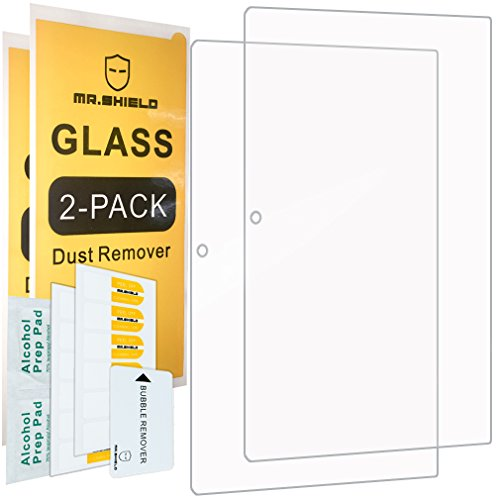 [2-PACK]-Mr.Shield Designed For Lenovo Ideapad MIIX 320 [Tempered Glass] Screen Protector [0.3mm Ultra Thin 9H Hardness 2.5D Round Edge] with Lifetime Replacement