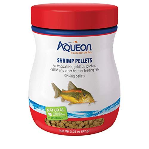 Aqueon 06188 Shrimp Pellets Fish Food, 3-1/4-Ounce