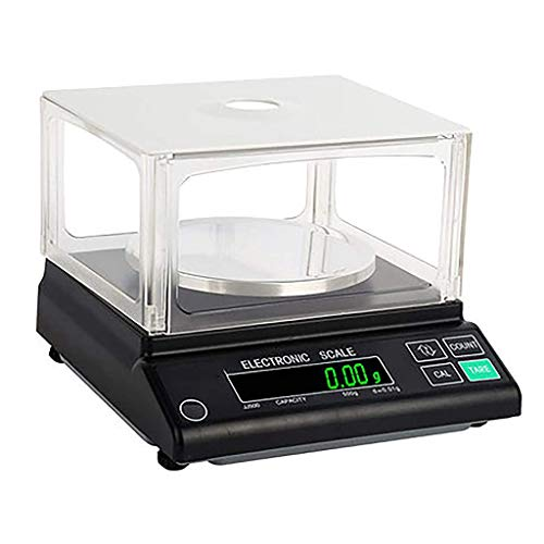 WZ Alta Precisión Digital Laboratorio Balanza Analítica Pantalla LCD para Laboratorio Farmacia Joyería Planta Química 0,01g (Size : 500g/0.01g)
