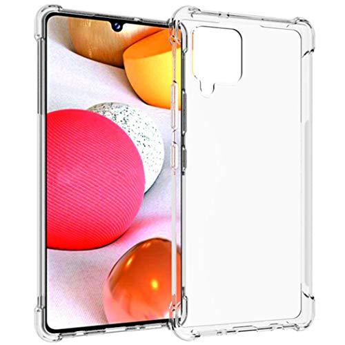 iMoshion kompatibel mit Samsung Galaxy A42 Hülle – Shockproof Hülle Handyhülle – Silikon Schutzhülle in Durchsichtig/Transparent [Verstärkte Ecken, Stoßfest, Dünn]