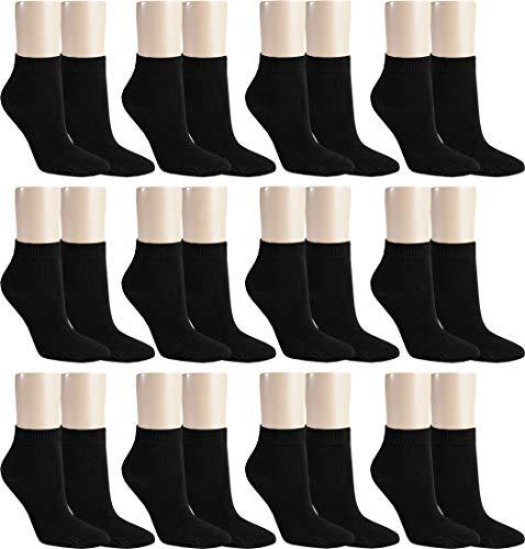 RS. Harmony | Kurzsocken für Damen | Kurze Extrafein Komfort | 12 Paar | schwarz | 39-42