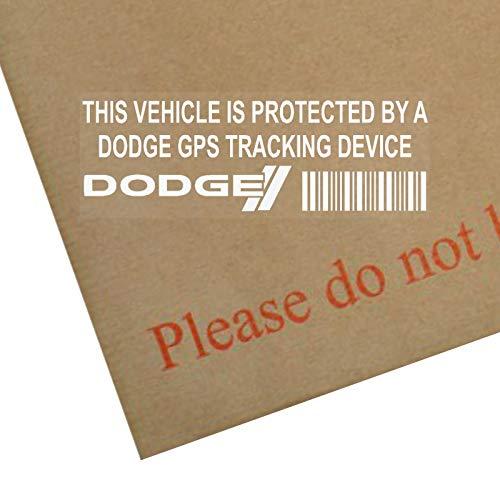 5 x ppdodgegps GPS Gerät Sicherheit Fenstertattoo 87x30mm-Ladegerät,Viper,Grand Caravan,Challenger,Dart,Durango,Reise-Kfz-Alarm-Tracker