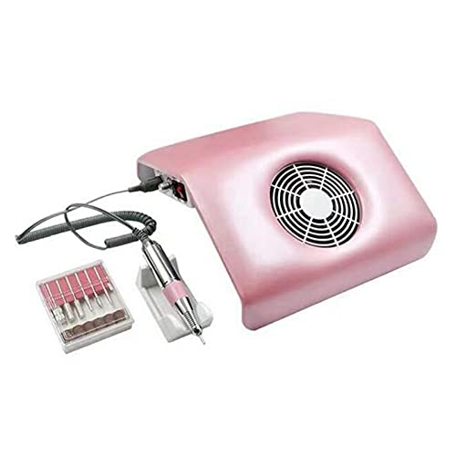 SFLCYGGL Eléctrico Lima de Uñas Pulidora Multifunción 2 en 1 Colector de Polvo de Uñas por Salón Casa Manicura Pedicure
