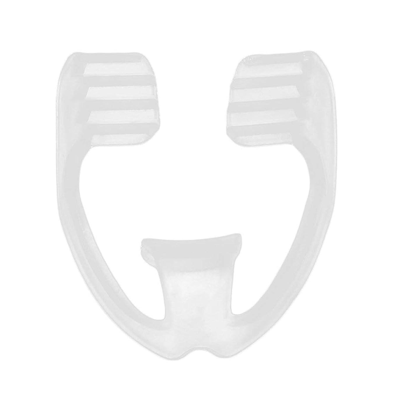 アナウンサーフリンジストリームユニバーサルナイトスリープマウスガードストップ歯ひび割れ防止いびきボディヘルスケア睡眠補助ガード - 透明
