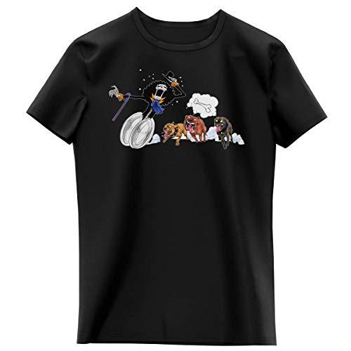 T-Shirt Enfant Fille Noir Parodie One Piece - Brook - Le Meilleur ami du Chien ! (T-Shirt Enfant de qualité Premium de Taille 3-4 Ans - imprimé en France)