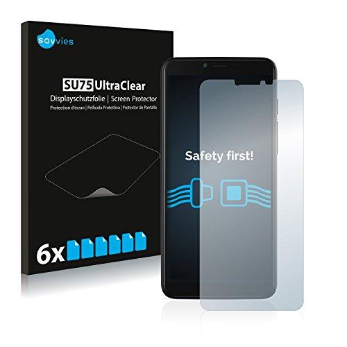 Savvies 6X Schutzfolie kompatibel mit Archos Core 57S Bildschirmschutz-Folie Ultra-transparent