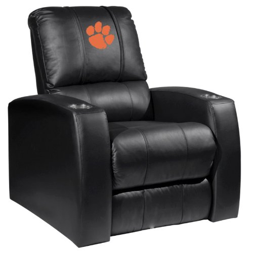 XZIPIT College Home Theater Recliner with Clemson Tigers Logo Panel, Black