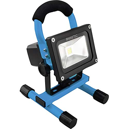 NINETEC 10W LED Flutlicht Fluter Lampe Außen Strahler kabellos Baustrahler tragbar Blau