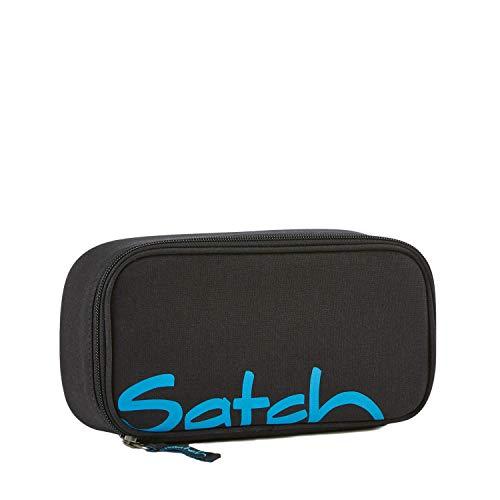 Satch Schlamperbox Black Bounce, Mäppchen mit extra viel Platz, Trennfach, Geodreieck, Schwarz