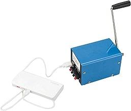 HEIRAO Generador portátil de Emergencia en Caso de Desastre, generador doméstico de Alta Potencia con manivela para USB Cargador de computadora móvil DIY Camping Senderismo Noche Fiesta