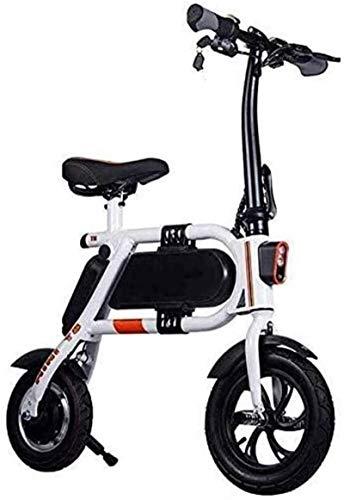 Bicicleta Plegable eléctrica para Adultos, Scooter de batería de Litio 36V 8AH 350W, con iluminación LED Scooter eléctrico portátil, para Ciclismo al Aire Libre