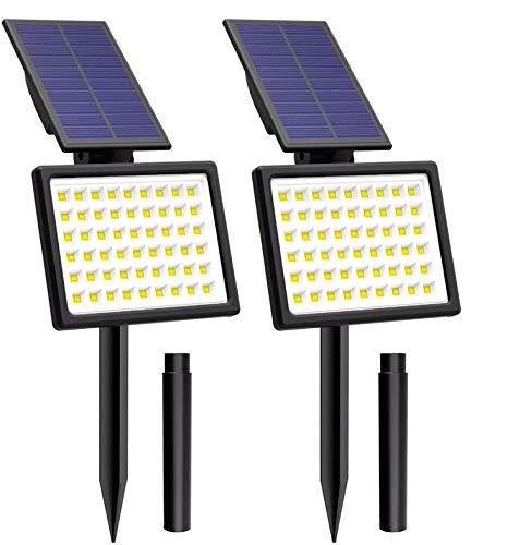 54 LED Solarleuchte Garten, T-SUNRISE Gartenleuchten Solar Außenleuchte Solarstrahler Außen IP65 Wasserdicht mit 2 Lichtmodi 2 Stück (6000K)