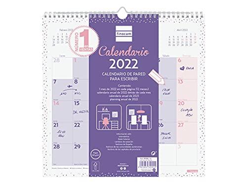 Finocam - Calendario 2022 30X30 - 300x300 mm, Español, Pared - Chic Morado