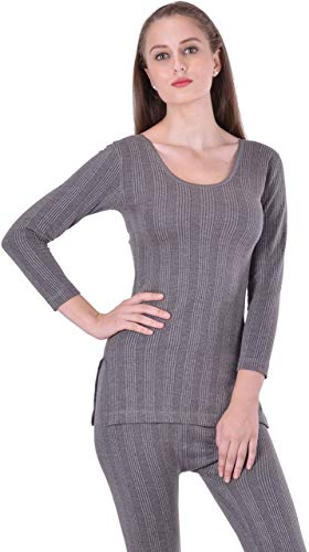 Lux Inferno Ladies 3/4 Thermal Top and Lower Set_Set_85_Grey