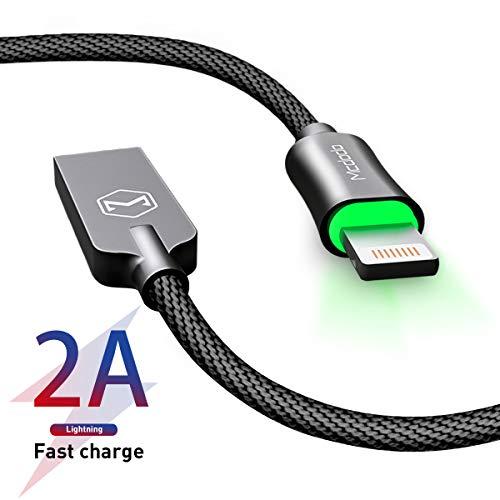AICase Cable L ightning Cable Cargador de Phone con función de desconexión automática para Phone 11/XS MAX XR X 8 Plus 7 Plus 6S 6 Plus 5 5S 5C SE Pad Pod- 1.2M (Negro)