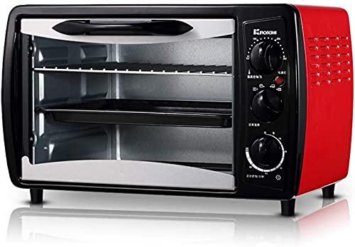 ZJDM Ajuste de Temperatura del Mini Horno de 19L 0-250 ℃ y temporización de 60 Minutos 1380W Hogar multifunción Hornear Completamente automático Pastel de Pizza de Huevo
