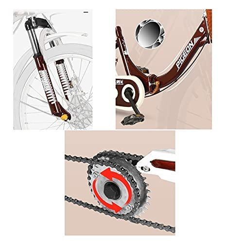 zyy Adult Tricycle 1 Speed 3 Wheel Trike Bike Cruiser with 20