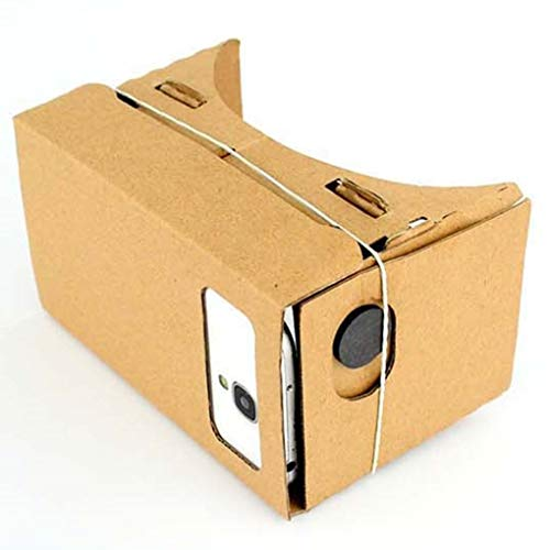 Idyandyans 3D Virtual Reality Pappe Virtual Reality Box Brille Film Video Game Headset für 3,5-5,5 Zoll Smartphones