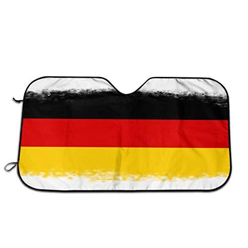 Vlag van Duitsland Auto Voorraam Zonnescherm Voorruit Zonnescherm Venster Voorruit Cover Universele Fit Auto UV Ray Zon en Warmte Visor Bescherming (27,5 X 51 Inch)
