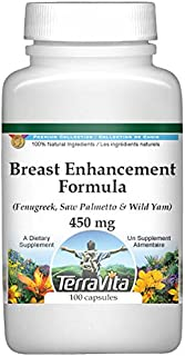 Breast Enhancement Formula - Fenugreek, Saw Palmetto and Wild Yam - 450 mg (100 Capsules, ZIN: 514008)