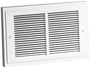 Broan-NuTone 124 Wall Heater with Downflow Louvers, Supplemental Heater for Bathroom and Home, White Grille, 120 VAC, 750/1500 Watt