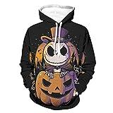 Jack Pumpkin Nightmare Before Christmas - Sudadera con capucha para Halloween, transpirable, con bolsillo de canguro bifurcado para Wokers Sporters para gimnasio, deporte, color blanco, 4XL