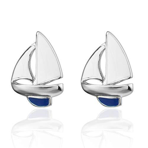 UYY Manschettenknöpfe Hemd Blau Weiß Segeln Manschettenknopf Für Herren Marke Manschette Einfache Mode Wilde Knöpfe Manschettenknöpfe Hochwertiger Schmuck