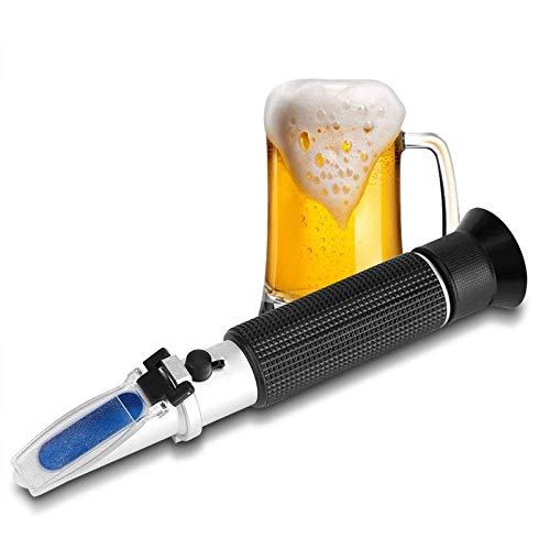 LTOOTA Refractómetro Brix, 0-32% Cerveza Wort SG Handheld Handheld Refractómetro Azúcar con ATC, para Fluidos Relacionados con El Azúcar como Jugo De Frutas, Vino, Cerveza