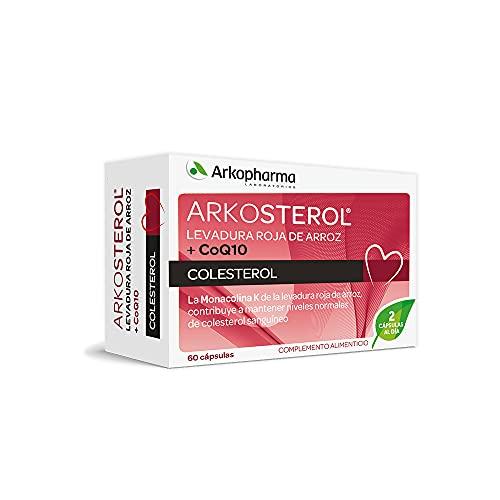 Arkopharma Arkosterol Levadura Roja de Arroz + Q10 60 Cápsulas | Monacolina K 10mg |Coenzima Q10 | Solución Natural para Controlar el Colesterol |100% Natural | Sin Citrinina