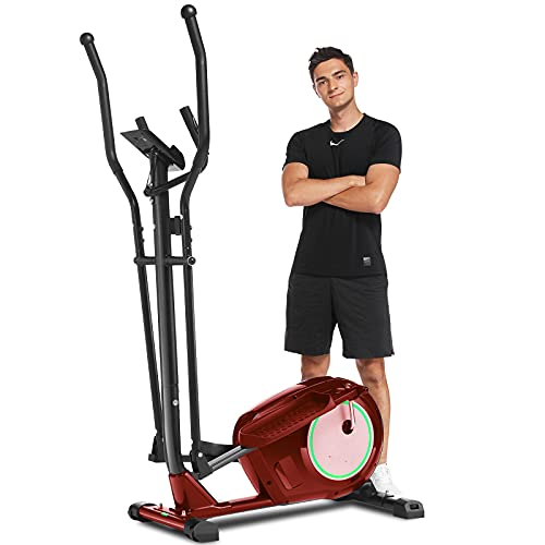 ANCHEER Folding Exercise Bike, Upright and Recumbent Indoor Stationary Bike with APP Connect, 10-Level Adjustable Magnetic Resistance & Comfortable Seat for Home Gym Cardio Fitness