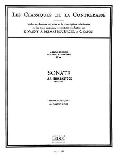 CLASSIQUE CONTREBASSE N045 SONATE