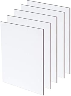 Canvas Panels - Artist Canvas Textured Panel Boards for Professional Painting w/Acrylic, Oil, Mixed Media, Watercolors, Drawing - [5 Pack] - 11 x 14