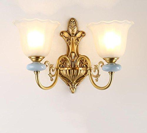 %Éclairage de chevet Lampes murales simples - Couloirs d'intérieur et d'extérieur Murs Walkway conduit tous les abat-jour en verre de cuivre Corridor Creative luminaires décoratifs (15 cm * 36 cm)
