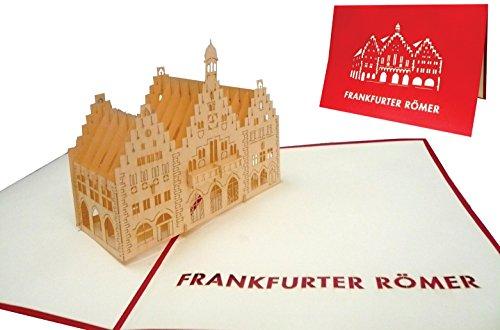 LIN 3D POP UP Karten, Grußkarten Frankfurt, Frankfurter Römer, Reisegutschein, Frankfurt am Main (217)