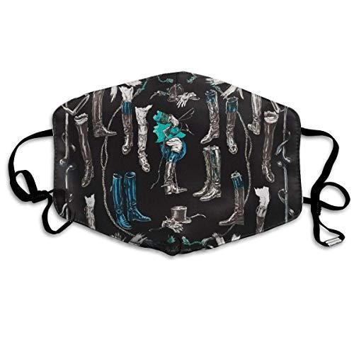 Unisex Anti Stof Sjaal Geschilderde Kleur Beeld (148) Maskers Cool Gezicht Mond Masker Voor Kinderen Tieners Mannen Vrouwen
