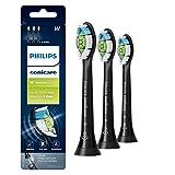 Genuine Philips Sonicare DiamondClean Toothbrush Head, 3 Pack, Black, HX6063/95