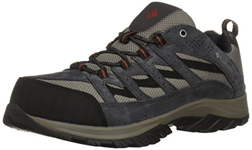 Columbia Men's Crestwood Waterproof Wide Hiking Shoe, Quarry, Burgundyy, 15  Wide US