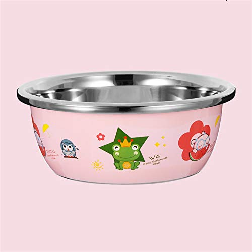 ZHENZEN Stainless metal mixing bowl salad bowl Multifunctional mixing bowl Can wash child bottles and fruits Stackable Reduce space for storing (Size : 28cm)