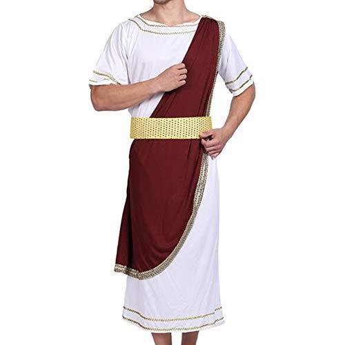 Traje de Roma Julio César cosplay retro con cubre Tiara del hombro y del partido de Halloween de la correa de los hombres traje Uniforme 1 Set