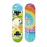 WWSHM Pro Skateboard Kids Skateboard, 29 Inch Double Kick Skateboard for Beginners with Maple Deck, for Boys & Girls, Gift Skateboard Standard Skateboards