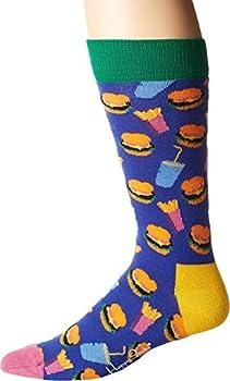 Happy Socks Hamburger Socks Purple Combo Men s Shoe Size 8-12