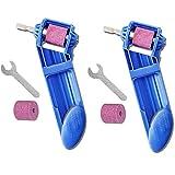 Sacapuntas De Broca,2 Afiladores de Taladros Portátiles Con un Ancho de 2-12,5 mm, Utilizados Para Afilar Herramientas Para Taladros a Base de Hierro (Azul)