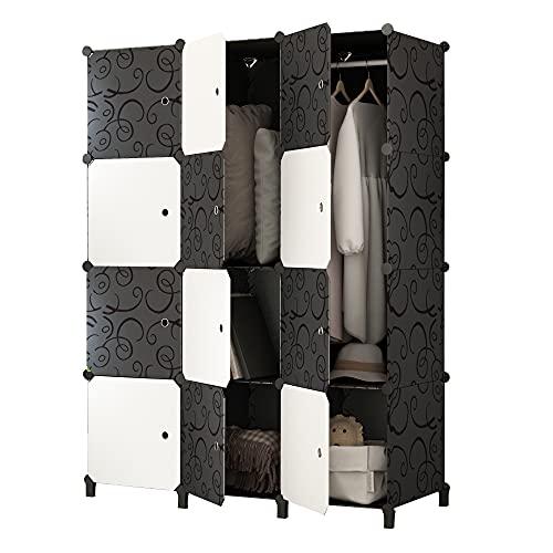 JOISCOPE Portable Closet Wardrobe,Bedroom Armoire, Storage Organizer for...