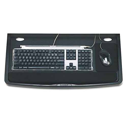 Kensington 60004 Underdesk Keyboard Drawer,w/Mouse Tray,26-Inch x13-1/2-Inch,Black