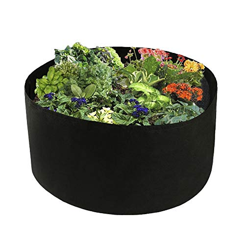 INFILM Fabric Raised Planting Bed for Vegetables, 100 Gallon Garden Grow Box Herb Flower Plants Pots Planter Gardering Container